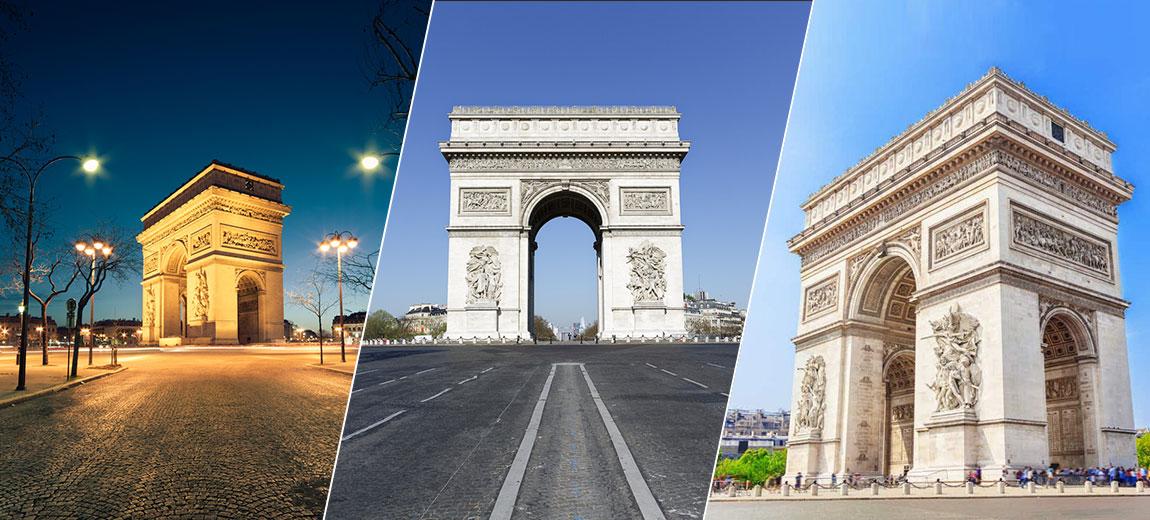 Arc de Triomphe filtre Snapchat Lens Landmarker
