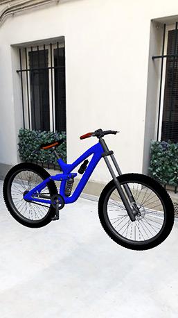 Filtre Réalité Augmentée Instagram Objet 3D Vélo