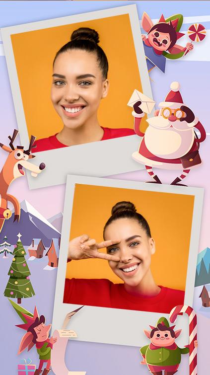 Filtre polaroïd thématique Noël pour Instagram