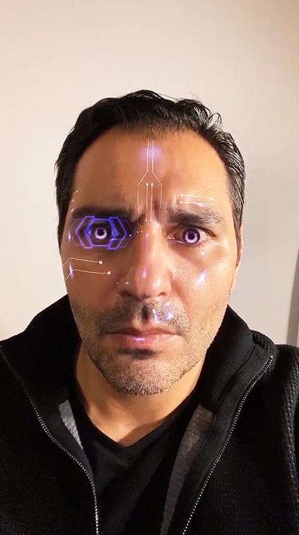 Filtre Futuriste AR Cyberpunk 2077