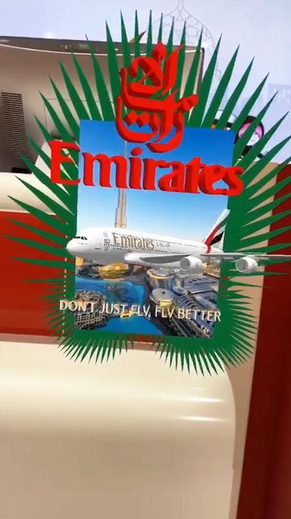 Logo AR Fly Emirates Filtre Instagram AR