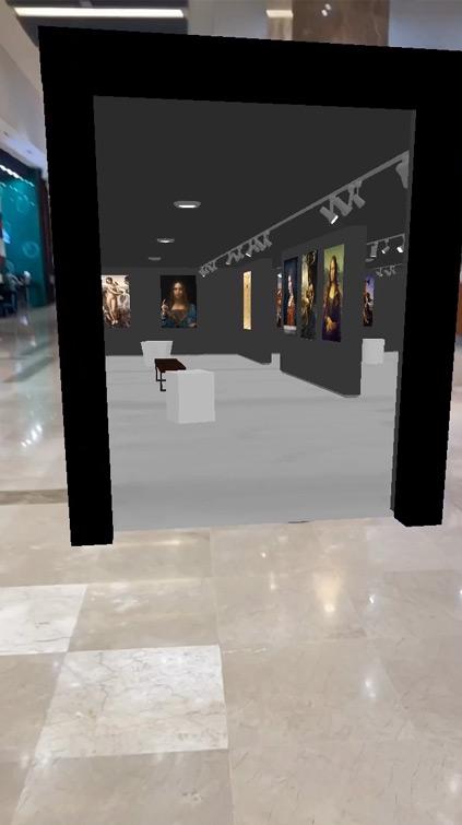 Filtre Instagram musée AR portail 3D