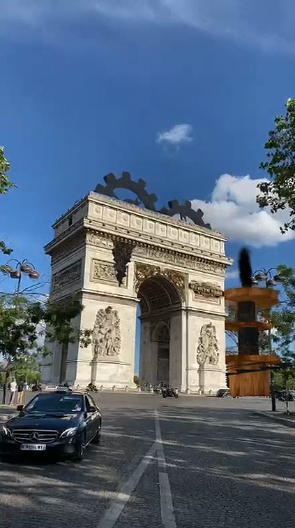 Filtre Snapchat Landmarker Arc de Triomphe