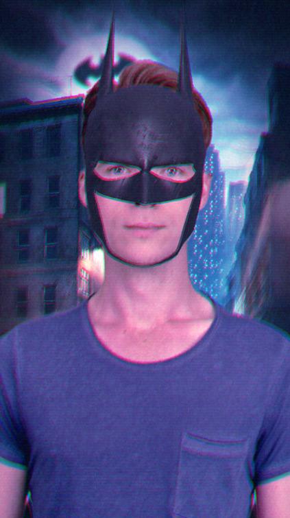 Filtre Snapchat Batman