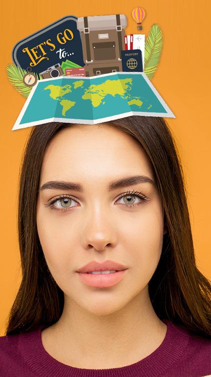 Filtre jeu Snapchat carrousel Pays