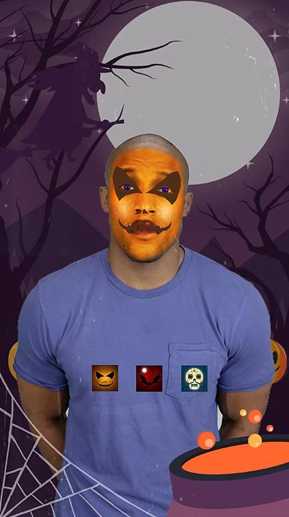 Filtre Halloween AR Snapchat