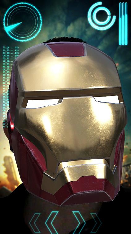 Filtre Snapchat Iron Man