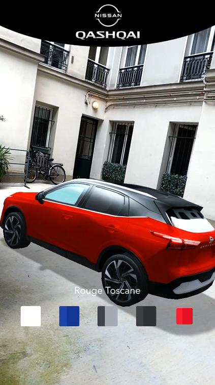 Filtre Snapchat Configurateur Nissan Qashqai