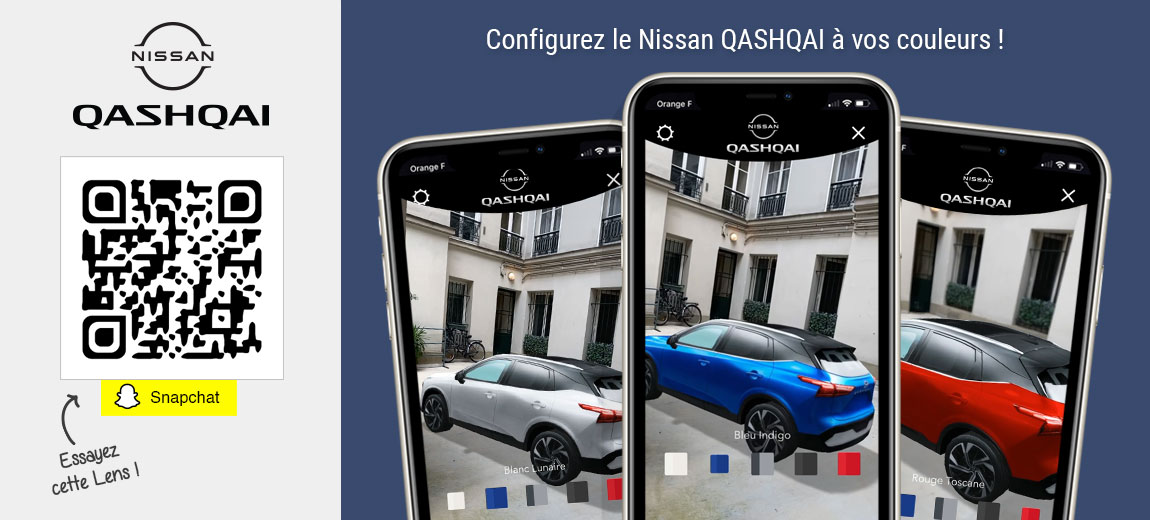 Personnalisez votre Nissan QASHQAI avec cette Lens Snapchat !