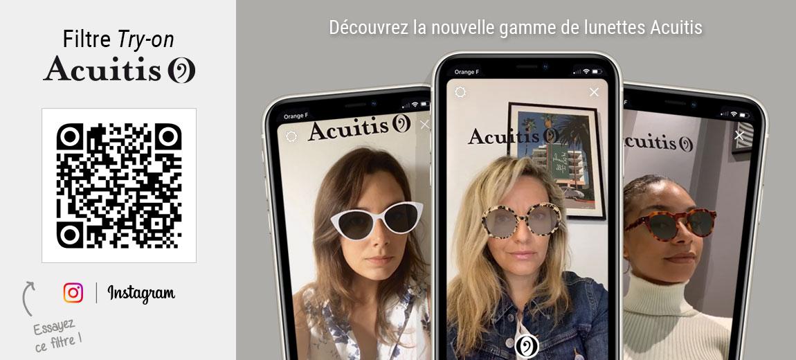 Essayez le filtre Try-on Acuitis et découvrez les différentes paires de lunettes disponibles