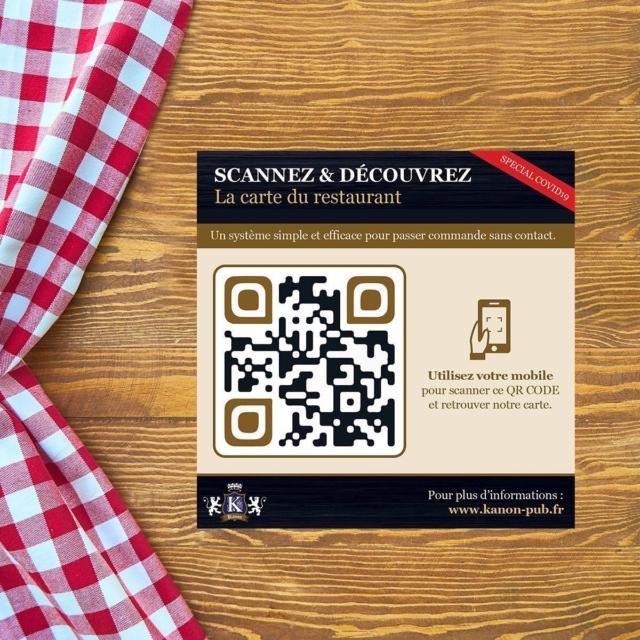 Qr-Code et Carte de restaurant sans contact - Voici notre proposition Anti-Covid19 pour les restaurateurs : stickers QRCODE sur les tables + menu responsive visible sur le mobile du client. #stopcovid19 #qrcode #marketing #mobile #paris #restaurant #webagency #design #technologie #web #interactivestudio