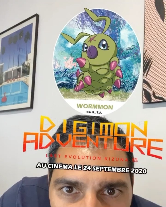 Création filtre instagram pour la sortie du film Digimon au cinema avec @agencehistoire2 ! #arfilters #toeianimation #digimon #creationfiltre #sparkar #manga #socialmedia #cartoon #arlens Filtre disponible sur le compte @digimon_last_evolution_kizuna
