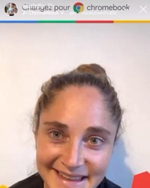 Création du filtre Instagram «Changez pour Chromebook» de Google. La puissance marketing d'un filtre prend toute son ampleur avec l'aide des influenceurs (ici @marinlle une référence française dans le fitness  le sport et le dépassement de soi). #google #filtreinstagram #changerpourchromebook #influenceuse #marketing #digitalmarketing #entreprendre #réalitéaugmentée #sport