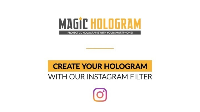 Discover Our Intagram filter Hologram Maker working in combination with the pyramid @magichologram3d - Create your own holographic message ! #hologram #sparkar #sparkarcreators #holographic #smartphone #magichologram #instagramfilters #holographicvideo