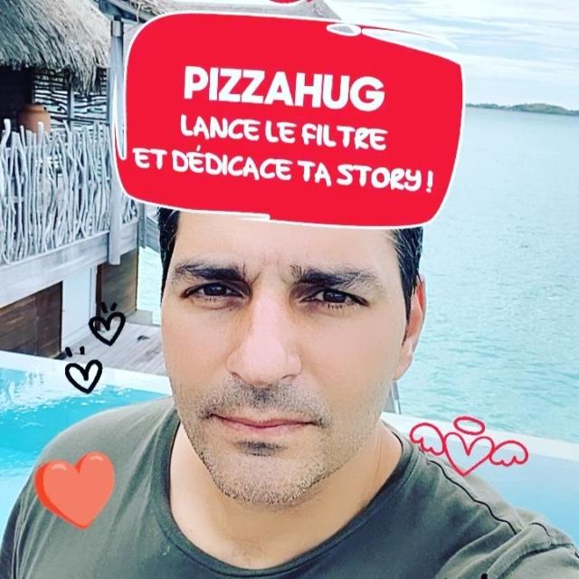 Création d'un nouveau filtre instagram pour Pizza Hut @pizzahutfr avec l'agence @spokateam #love #pizzahut #pizzahug #filtre #ar #socialmedia #pizza #tahiti #borabora