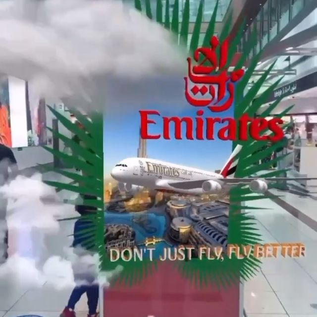 This is our AR work on the logo of the prestigious flight company Emirates @emirates You can find the filter in the Stars Tab of our instagram account #sparkarcreators #emirates #logo #livinglogo #branding #instagramfilters #digitalinnovation #contentcreators #digitalcontent